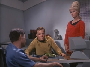 Kirk: Captains don't eat no salad. McCoy: They do if they want to fit into their velour.