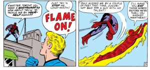 Spider-Man and Torch duke it out!