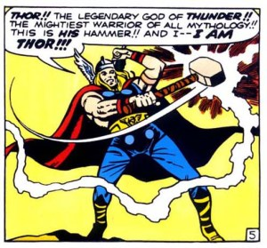 The First Panel featuring Thor.