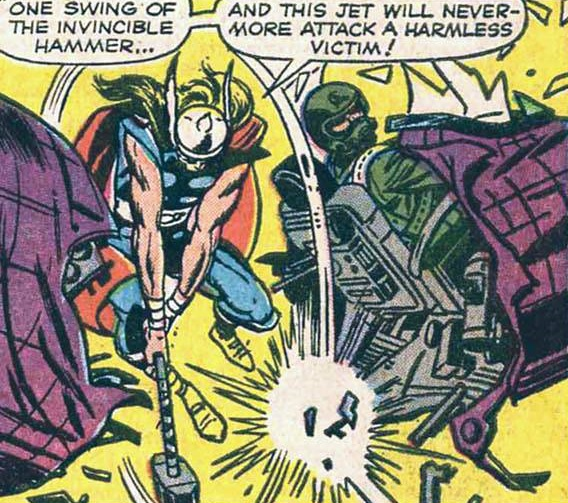 Thor vs. The MiG.