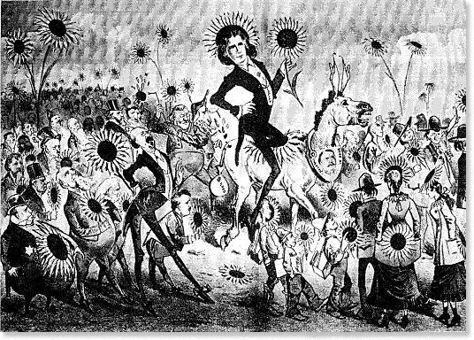 Cartoon of Oscar Wilde's American Tour
