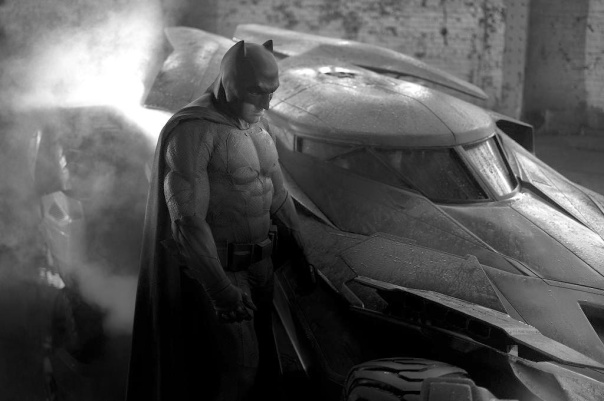 Ben Affleck Batsuit and Batmobile reveal 2 - edit