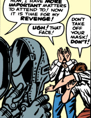 Stan and Jack cower at the face of Dr. Doom.