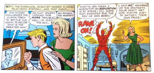 Sue Storm being a 'mom.'