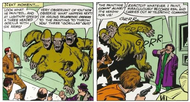 Van Vile paints a 3 headed ape to terrorize us.