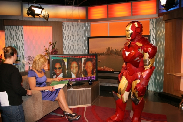 Even Iron Man has to do the talk show rounds.